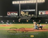 Autographed photo of Tony Gwynn's 1st Major League Hit--Rare 1 OF 338 TOTAL
