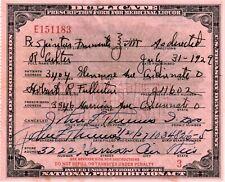 Old 1929 Prohibition Whisky Prescription Doctor Pharmacy Rx Bar Cincinnati OH