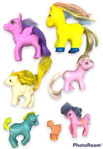 My Little Pony G1, G2, G3 Ponies / Babies + 1 Vintage NOS Stamper 1986 Lot of 7
