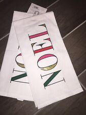 Kate Spade set of 2 Cotton Towels NOEL New with Tag