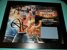 John Cena Signed Wrestlemania XXVI Plaque 279/500 Ring Mat 26 WWE WWF 2010 NXT