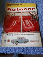 Autocar Magazine 20 September 1963 - Frankfurt Show Report, Winter Equipment