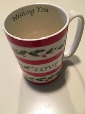 Lenox Holiday Wishing You Love  12oz. Coffee Mugs Cup