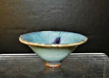 Chinese Southern Song Dynasty 南宋天蓝釉钧窑小茶盏13th century sky blue glaze Jun kiln