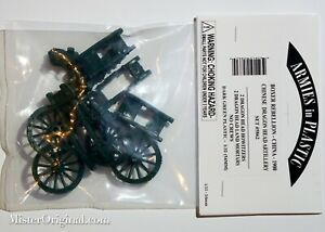 Armies in Plastic Boxer Rebellion Chinese Dragon Head Howitzers & Mortars 1/32