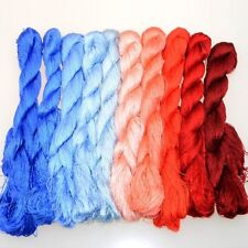 Silk Thread For Sewing Embroidery Stitching 400 Meters Dyed Mercerized Materials
