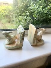 Beswick Pottery Rabbit bookends 455 Deco 30s