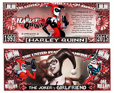 HARLEY QUINN ! BILLET MILLION DOLLAR! Collection BATMAN JOKER Super Heros Comics