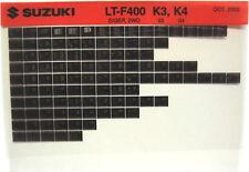 Suzuki LT-F400 Eiger 2WD 2003 2004 Parts Catalog Microfiche s519a