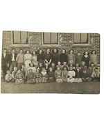 Vintage Group of Children Boys Girls Class Photo AZO Postcard 1920s?Furby School