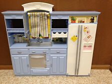 Barbie Doll Living In Style Decor Collection Kitchen Fridge Furniture Playset