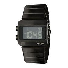 "EOS New York ""Sprinx"" Cuarzo Multifunction Acero IP Negro Digital Unisex Reloj"