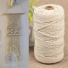 200m 100% Natural Beige Cotton Twisted Cord Craft Macrame Artisan String 3mm UK