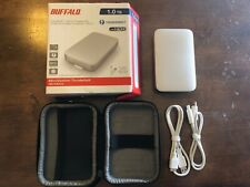 1TB BUFFALO Portable Hard Drive Thunderbolt USB 3 with cables and case (8560)