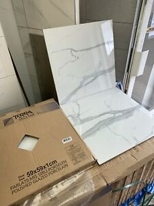(20 -100 SQM) WHITE MARBLE EFFECT POLISHED PORCELAIN.