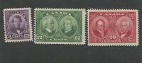 Set of 3 1927 Canada Historical Issue Baldwin Lafontaine Postage Stamp #146-148