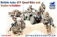 Bronco CB35207 1/35 scale British Army ATV Quad Bike and Trailer w/Sodier