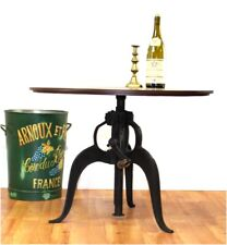Iron Crank Table Urban Old Style Factory Industrial Bar Height Adjustable