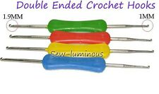 "6.3"" Double Ended Crochet Hooks With Plastic Handle,1mm&1.mm,Sewing/Craft Needle"