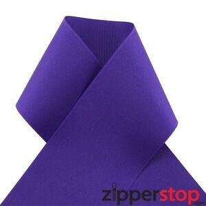 "3"" DEEP PURPLE Grosgrain Ribbon -20 or 50 Yard Roll -Great for Cheer /Hair Bow"
