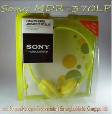 NEU Sony MDR-370 STEREO KOPFHÖRER IPOD MP3 IPHONE SAMSUNG TEENAGER KIDS KINDER