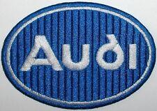 Toppa ricamata patch termoadesiva logo AUDI cm. 9 x 6,2