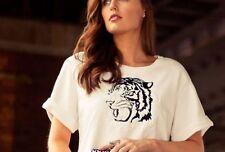 Zara Tiger Head Embroidered Sweatshirt Sweat Top Size Medium