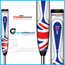 2 Thumb Big Daddy Light Putter Grip - Union Jack White / Blue / Red + Free Tape