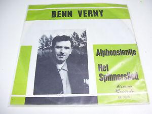 """Benn Verny - Alphonsientje / Het Spinnerslied * 7"""" VINYL 45 RPM *"""