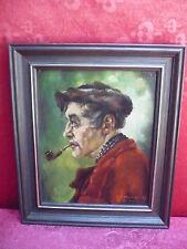 schönes,altes Gemälde__Mann mit Pfeife__signiert__ !