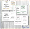 10 PERSONALISED WEDDING INVITATIONS CARD DAY EVENING INVITES WITH ENVELOPES