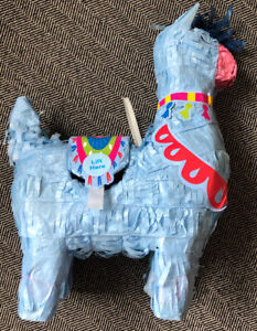 "Blue Llama Fortnight Party Mini Piñata Papier-mâché 7"" x 3"" x 6"""