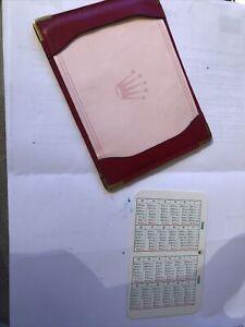 Rolex Notepad Calendar 1988 1989