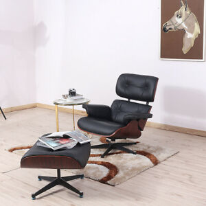 Eams Lounge Chair and Ottoman  leather Armchair Recliner Rosewood Living Room