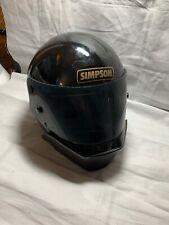 """1980 Carbon Fiber SIMPSON Darth Vader Helmet 7-5/8"""" Snell Racing Helmet Drag A4"""