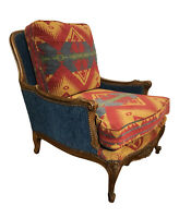 19th Century French Upholstered and Carved Armchair