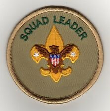 Squad Leader Position Patch (Varsity 1989), Plastic over Gauze Backing, Mint!