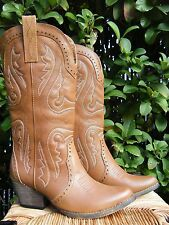 Very Volatile NASHVILLE Womens 7 Camel Tan Leather Western Cowboy Boots NEW!