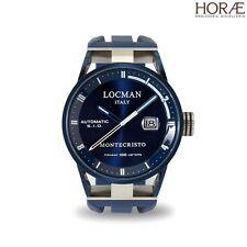 Orologio da Polso Uomo Locman Montecristo 0511BLBLFWH0SIB crono gomma blu pvd