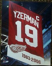 Steve Yzerman Detroit Red Wings  11x14 with Retirerment Night Banner