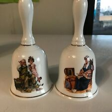 "The Norman Rockwell Museum set of 2 decorative bells ""The Cobbler, Memories"""