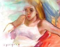 ORIGINAL OIL CANVAS PORTRAIT PAINTING ART BY UKRAINE ARTIST IGORGREY