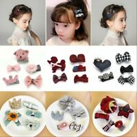 5Pcs Kids Baby Girl Hair Clips Set Cute Bowknot Heart Crown Headwear Hairpins