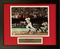 Pete Rose Signed Cincinnati Reds Framed Baseball 8x10 Photo 4192 4256 Hit COA