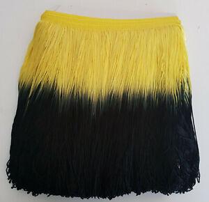 Fransen elastisch 30 cm gelb schwarz