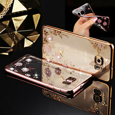 Strass Bling Diamant Chrom Handy Tasche Schutz Hülle Silikon Bumper Case Cover