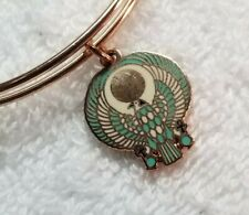 Alex and Ani Egyptian Falcon Shiny Rose Gold Bangle Bracelet