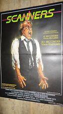 SCANNERS  ! david cronenberg  affiche cinema horreur