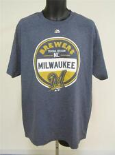 NEW Milwaukee Brewers Mens Size Large Majestic Shirt