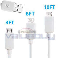 3x lot Micro USB Sync Charger Cable Cord for Samsung Galaxy S2 S3 S4 S6 Note 2 4